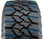 Nitto's commercial, all weather light truck tire has deep sipes