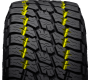 Tread of Nitto's all terrain light truck tire