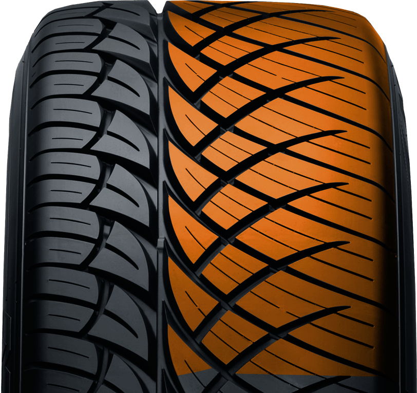 Outer blocks of Nitto's all season pickup truck and suv tire