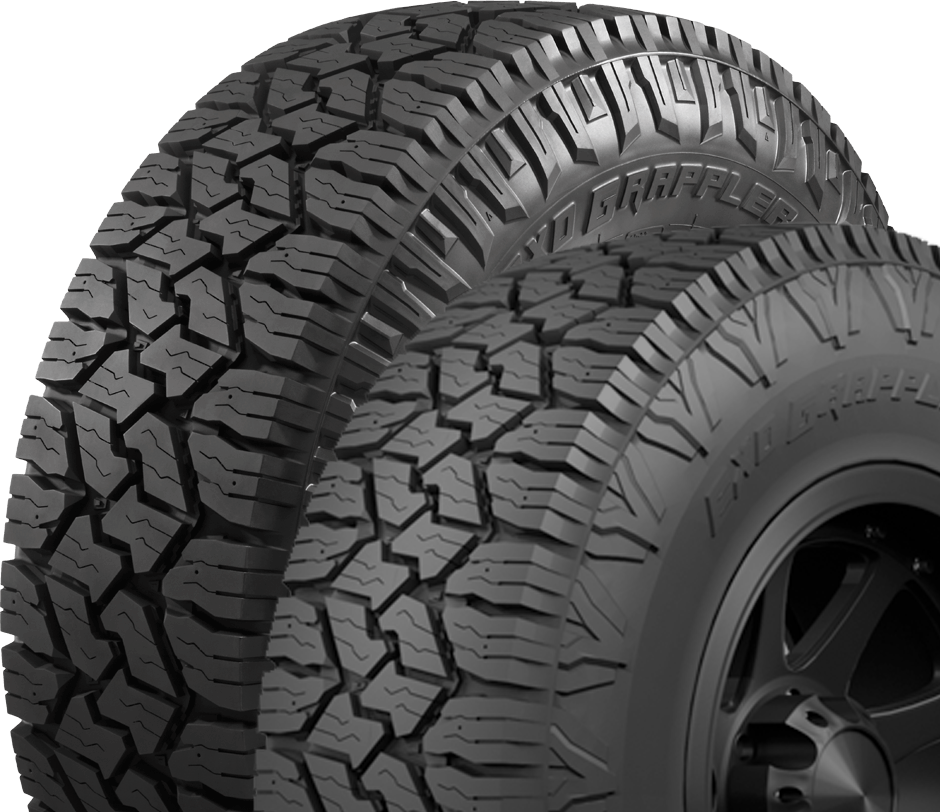 Nitto's commercial all weather light truck tire has a dual sidewall