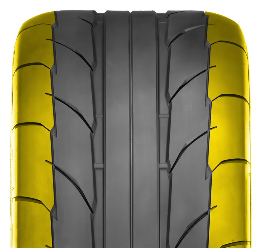 Nitto's NT555RII drag tire has an improved sidewall.