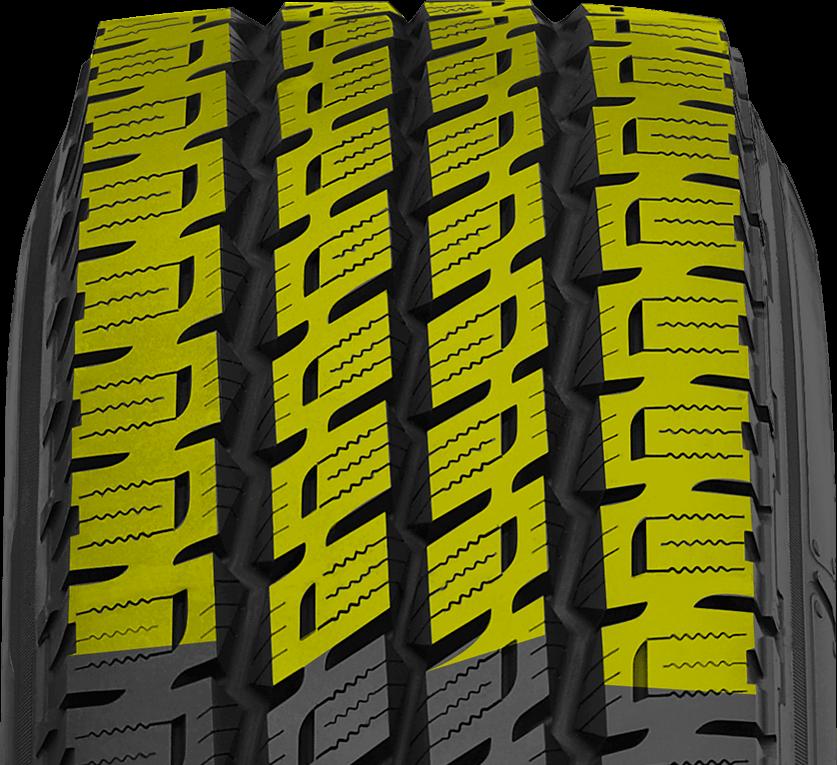 Nitto's highway light truck tire has 3 steel belts