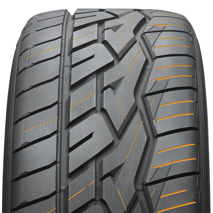 sipes on Nitto's CUV and SUV performance tire